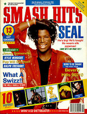 SMASH HITS 1991 BEVERLY HILLS 90210 KYLIE MINOGUE BELINDA CARLISLE NKOTB QUEEN