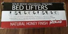 Richards Natural Honey Finish Wood Bed Lifters (Set of 4)