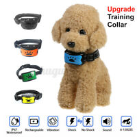 Pet Dog Training Collar Electric Anti-Barking Trainer Rechargeabl