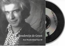 BOUDEWIJN DE GROOT - een wonderkind van 50 CD SINGLE 2TR Dutch Cardsleeve 1996
