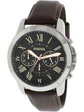 Fossil Men's Grant FS4813 Brown Leather Japanese Quartz Fashion Watch