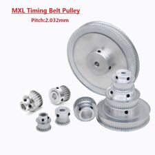 MXL14T-40T Timing Belt Pulley With Step, Bore 3mm-20mm For 6/10mm Width Belt