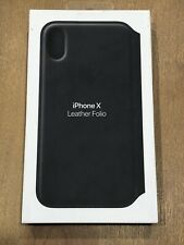 Apple Leather Folio Case for iPhone X & XS Black