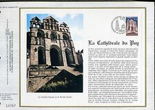 DOCUMENT CEF PREMIER JOUR  1980  TIMBRE   N° 2084 CATHEDRALE DU PUY