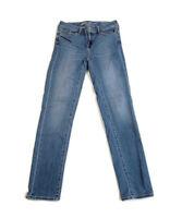 Eddie Bauer Women's Blue Jeans Slightly Curvy Slim Straight Stretch Denim Size 4