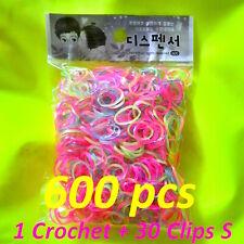 Métier à tisser élastiques bracelet Rainbow Loom hook Crochet métal bleu