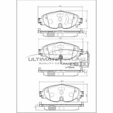 Audi A3 8V Convertible 2014- 1.4 1.5 1.6 1.8 2.0 Front Brake Pads W160-H65-T20.4