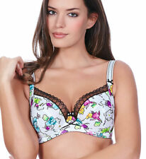 Freya Candid AA5041 Underwired Side Support Plunge Balcony Bra White Floral