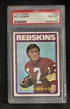 1972 TOPPS FOOTBALL # 18 BILL KILMER WASHINGTON REDSKINS PSA 10 SET BREAK