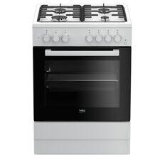 Cucina a gas 60x60 Forno elettrico ventilato  Bianco Beko FSE62110DW
