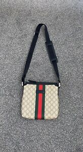 Gucci Messenger Gg Bag Used Supreme Pouch Mint Condition