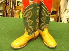Anderson Bean cowboy western boots Brown leather mens 9 EE - see all pics