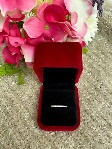 14K Gold Ring, 14K Diamond Ring, Eternity Ring, Wedding Ring, 14K Diamond