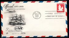USA - 1956 Stamp exhibition Fipex -  Mi. airmail cover FDC