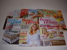 BETTER HOMES AND GARDENS Magazine, Lot of 9, 2013, Decorating, Trisha Yearwood!