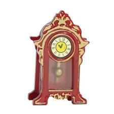 1:12 Scale Working Operated Wooden Clock Dolls House Miniature Accessory N UKGRL
