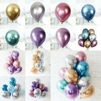 "50PCS 12"" Metallic Latex Balloons Chrome Bouquet Wedding Birthday Party Decor"