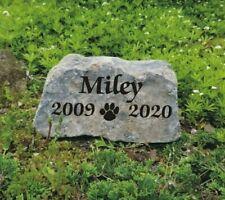9 x 5 Personalized Engraved Pet Dog Cat Memorial Rock Garden Stone
