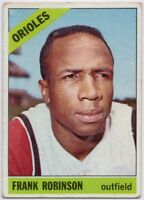 1966 Topps #310 Frank Robinson Low Grade Pin Hole Orioles FREE SHIPPING