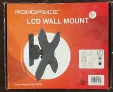 "Monoprice 2-Way Adjustable Tilt & Swivel Wall Mount Bracket (Max 44 lbs, 17-37"")"
