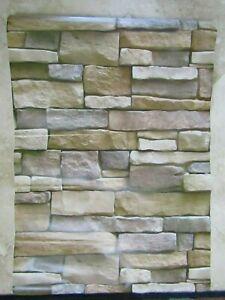 """Lot of 15 roles of Peel and Sick Faux Brick decorative wallpaper 18""""x40"""""""