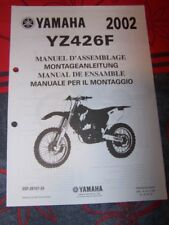 30 - Notice/Manuel Montage/Assemblage Supplement Yamaha Moto YZ426F YZ 426 F