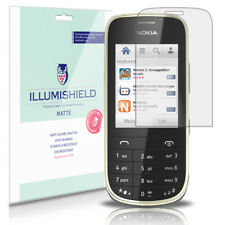 iLLumiShield Matte Screen Protector w Anti-Glare/Print 3x for Nokia Asha 202