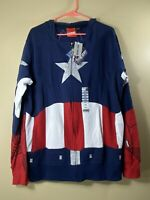 Captain America The First Avenger Cap A Costume Hoodie Sweatshirt Size Large