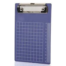 Pad Clip Holder Folder Plastic Clipboard Blue for paper A6 T1