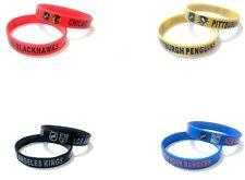 NHL Hockey Team Rubber Silicone Bracelet Sport Club Fashion Wristband Cuff