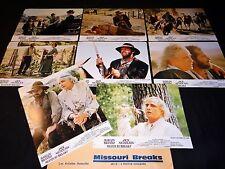MISSOURI BREAKS m brando nicholson jeu 16 photos cinema lobby cards western 1976