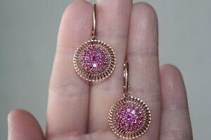 14K 585 Gold Earrings Russia   Ruby! NEW!