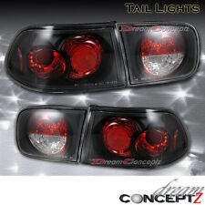92 93 94 95 HONDA CIVIC 2DR COUPE 4DR SEDAN TAIL LIGHTS BLACK PAIR 4 PIECES