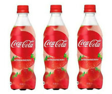 NEW! Japanese Coca Cola Strawberry x3 bottles / Direct export from Japan!