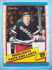 1989-90 OPC # 326 Brian Leetch (Highlight) Vintage Rookie Card!  N/MT or Better!