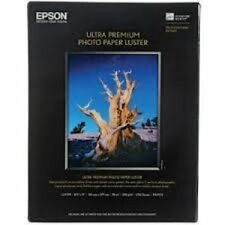 Epson Ultra Premium Photo Paper LUSTER (8.5x11 Inches, 50 Sheets) (S041405)