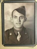 Vintage WWII Soldier In Uniform Photograph