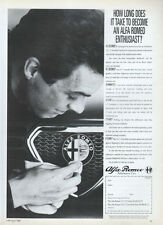 "Alfa Romeo ""Enthusiast"" 1988 Magazine Advert #3776"