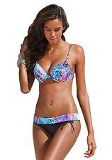 Bruno Banani Push-Up Bikini Set Cup-C Stretch Mehrfarbig Ethno Schwimmen Damen