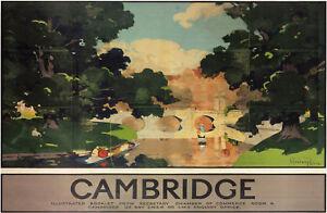 Cambridge Bridge (old rail ad.) mounted print         (se) REDUCED TO CLEAR