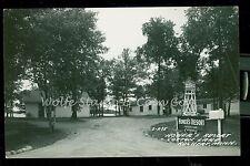 1940's RPPC Honer's Resort Cotton Lake Rochert MN Real Photo Postcard   B795