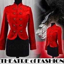 Giacca equitazione in velluto Cappotto Vintage 8 10 6 Vittoriano PADRONA Militare Circo Rosso