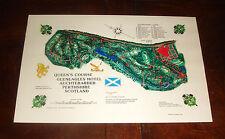 Vintage GLENEAGLES QUEENS AUCHTERARDER,SCOTLAND GOLF COURSE PRINT Ryder Cup 2014