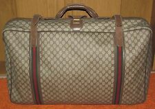Gucci Vintage GG Brown Monogram Travel Suitcase Luggage LARGE Style