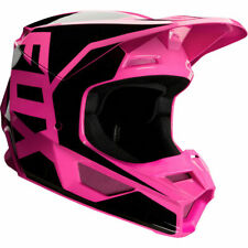 2020 Fox Racing YOUTH V1 Prix MX Motocross Off Road Helmet Black Pink