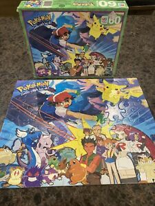 Vintage Pokemon 60 Piece MB Puzzle Gotta Catch 'Em All Hasbro 1999