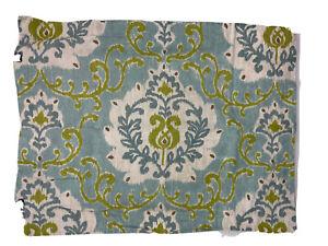 Pottery Barn Joyce Teal Blue Green Ikat Cotton Linen Standard Pillow Sham