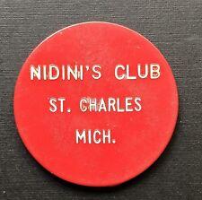 St Charles Michigan Nidini's Club 25 Cent Trade Token