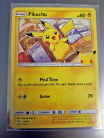 2021 Pokémon Pikachu #25 Sleeved Non-Holo McDonalds 25th Anniversary Promo Card