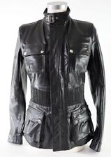 Belstaff Leather Long Brian Fashion Jacket Blouson Size 42 Made in Italy